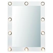 Mein Favorit: Glamourös - Spiegel mit 10 Spots ca. 120€